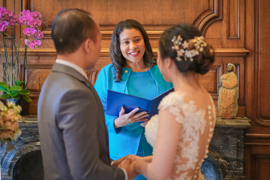 san francisco wedding ceremony by san Francisco mayor London breed